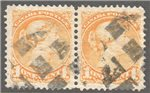 Canada Scott 35 Used VF Pair