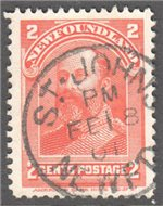 Newfoundland Scott 82 Used VF