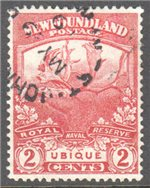 Newfoundland Scott 116 Used VF (P13.9)