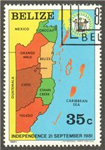 Belize Scott 591 Used