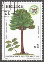 Belize Scott 598 Used
