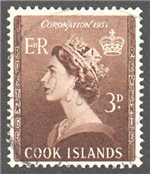 Cook Islands Scott 145 Used