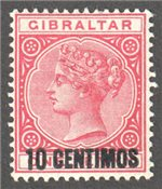 Gibraltar Scott 23 Mint