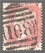 Great Britain Scott 33 Used Plate 140 - LJ
