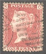 Great Britain Scott 33 Used Plate 156 - OK