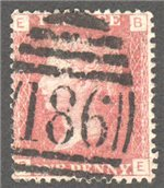 Great Britain Scott 33 Used Plate 146 - BE