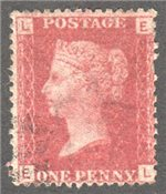 Great Britain Scott 33 Used Plate 101 - EL