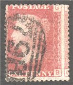 Great Britain Scott 33 Used Plate 103 - GB