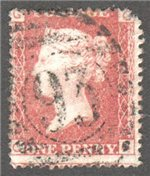 Great Britain Scott 33 Used Plate 204 - CG