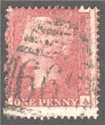 Great Britain Scott 33 Used Plate 124 - IA