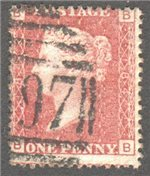 Great Britain Scott 33 Used Plate 184 - BB