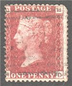 Great Britain Scott 33 Used Plate 122 - HD