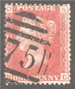 Great Britain Scott 33 Used Plate 212 - ND