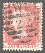 Great Britain Scott 33 Used Plate 76 - JF