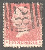 Great Britain Scott 33 Used Plate 79 - AA (Var)
