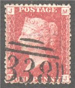 Great Britain Scott 33 Used Plate 147 - MJ