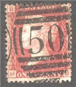 Great Britain Scott 33 Used Plate 193 - HB