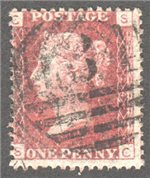 Great Britain Scott 33 Used Plate 124 - SC