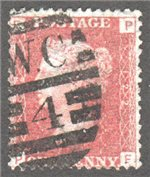 Great Britain Scott 33 Used Plate 122 - PF