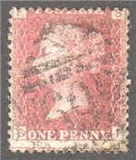 Great Britain Scott 33 Used Plate 163 - SF
