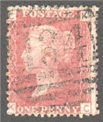Great Britain Scott 33 Used Plate 106 - KC