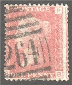 Great Britain Scott 33 Used Plate 187 - PB