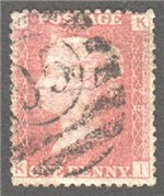 Great Britain Scott 33 Used Plate 79 - KI