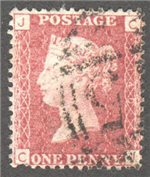 Great Britain Scott 33 Used Plate 140 - CJ