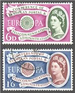 Great Britain Scott 377-8 Used (Set)