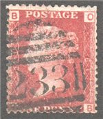Great Britain Scott 33 Used Plate 81- OB