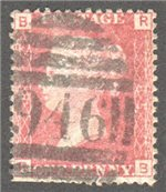 Great Britain Scott 33 Used Plate 85 - RS
