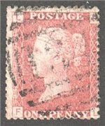 Great Britain Scott 33 Used Plate 130 - FL (2)