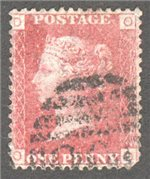 Great Britain Scott 33 Used Plate 131 - OD
