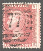 Great Britain Scott 33 Used Plate 71 - RE