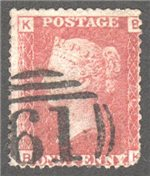 Great Britain Scott 33 Used Plate 76 - BK
