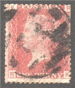 Great Britain Scott 33 Used Plate 221 - RK