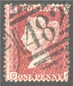 Great Britain Scott 33 Used Plate 190 - GK