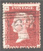 Great Britain Scott 33 Used Plate 112 - PH