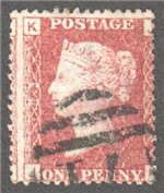 Great Britain Scott 33 Used Plate 193 - JK