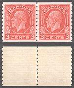 Canada Scott 207 Mint VF Pair (P)