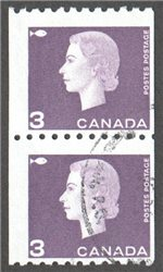 Canada Scott 407 Used Pair F