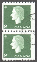 Canada Scott 406 Used Pair VF