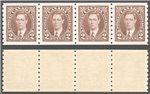 Canada Scott 239 Mint VF Strip (P)