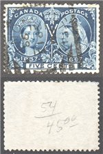 Canada Scott 54 Used VF (P)