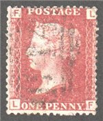 Great Britain Scott 33 Used Plate 74 - LF
