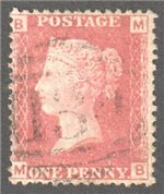 Great Britain Scott 33 Used Plate 71 - MB
