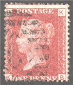 Great Britain Scott 33 Used Plate 111 - KB