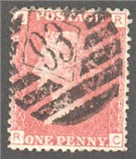 Great Britain Scott 33 Used Plate 90 - RC (2)
