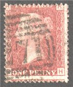 Great Britain Scott 33 Used Plate 207 - RH