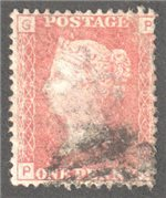Great Britain Scott 33 Used Plate 202 - PG